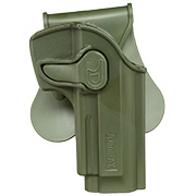 Amomax Tactical Holster Polymer Paddle für Beretta 92 / 92F / M9 Rechts oliv