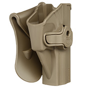Amomax Tactical Holster Polymer Paddle für H&K USP Serie / G&G GTP-9 Rechts Flat Dark Earth