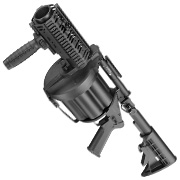 ICS MGL 40mm Airsoft Revolver-Granatwerfer Long Rail System Version schwarz - Short Barrel