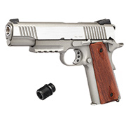 KWC M1911 A1 TAC Vollmetall CO2 BlowBack 6mm BB Stainless-Grey - Special Limited Edition