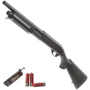 Cyma M870 Sheriff Shotgun Medium-Type Tri-Barrel Vollmetall Springer 6mm BB schwarz