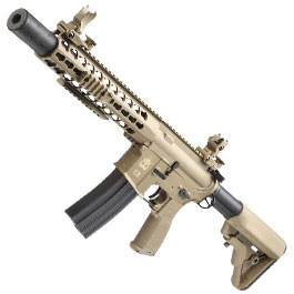 Evolution Airsoft Recon S 10 Silent Ops Carbontech S-AEG 6mm BB tan