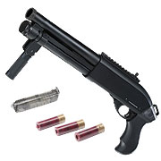 Jag Arms Scattergun Super CQB Vollmetall Pump Action Gas Shotgun 6mm BB schwarz