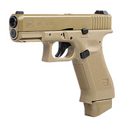 Glock 19X mit Metallschlitten CO2 BlowBack 6mm BB Coyote Tan
