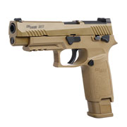 King Arms Sig Sauer ProForce P320-M17 m. Metallschlitten CO2 BlowBack 6mm BB Coyote Tan