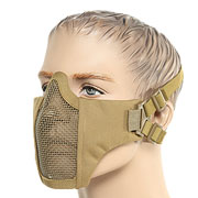 ASG Strike Systems Mesh Mask Airsoft Gittermaske Lower Face tan