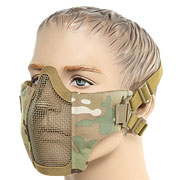 ASG Strike Systems Mesh Mask Airsoft Gittermaske Lower Face Multicam