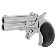 MaxTact Derringer Double Barrel Vollmetall Gas 6mm BB silber