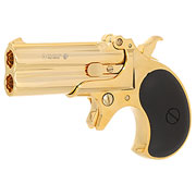 MaxTact Derringer Double Barrel Vollmetall Gas 6mm BB gold