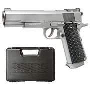 Well M1911 Combat Vollmetall CO2 NBB 6mm BB grau inkl. Koffer