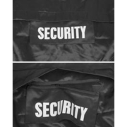 Rückenpatch Security mit Zipper