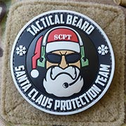 JTG 3D Rubber Patch Tactical Beard Santa Claus Protection