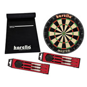 Karella Dartboard-Set - Board - Matte ECO-Star - 2 Dartpfeilsätzen ST-1