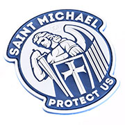 JTG 3D Rubber Patch Saint Micheal Klettfläche blau