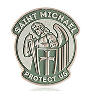 JTG 3D Rubber Patch Saint Micheal Klettfläche grün