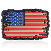 101 INC 3D Rubber Patch USA Flagge vintage Klettfläche