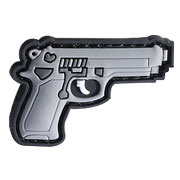 101 INC 3D Rubber Patch 9mm Klettfläche