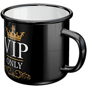 Emaille-Becher VIP Only 360 ml