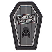 3D Rubber Patch Special Delivery grau