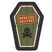 3D Rubber Patch Special Delivery grün