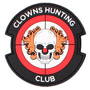 3D Rubber Patch Clowns Hunting Club rot