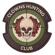 3D Rubber Patch Clowns Hunting Club multicam