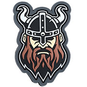 Mil-Spec Monkey 3D Rubber Patch Viking Head fullcolor