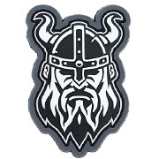 Mil-Spec Monkey 3D Rubber Patch Viking Head urban