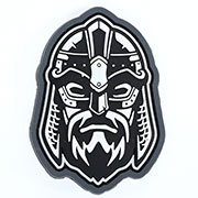 Mil-Spec Monkey 3D Rubber Patch Viking Warrior Head urban