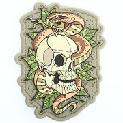 Mil-Spec Monkey 3D Rubber Patch Skull Snake 2 multicam