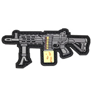 G&G 3D Rubber Patch LMG Airsoft Light Machine Gun schwarz