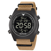 KHS Inceptor Black Steel Digital Natoband beige