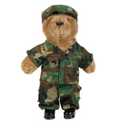 Teddy US Army, woodland
