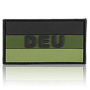 3D Rubber Patch Deutschlandflagge DEU oliv