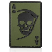 3D Rubber Patch Death Ace oliv schwarz