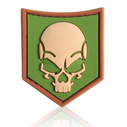 3D Rubber Patch SOF Skull multicam