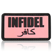 3D Rubber Patch Infidel pink schwarz