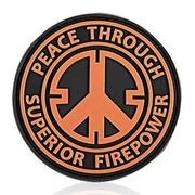 3D Rubber Patch Peace orange