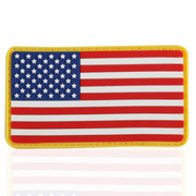 3D Rubber Patch Flagge USA full color
