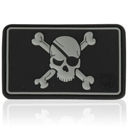 3D Rubber Patch Pirate Skull swat