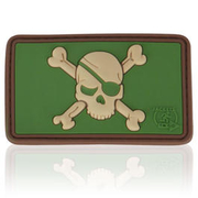 3D Rubber Patch Pirate Skull multicam