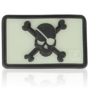 3D Rubber Patch Pirate Skull glow nachleuchtend