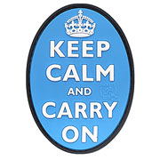 JTG 3D Rubber Patch Keep Calm and Carry on blau