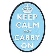 JTG 3D Rubber Patch Keep Calm and Carry on hellblau