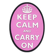 JTG 3D Rubber Patch Keep Calm and Carry on pink