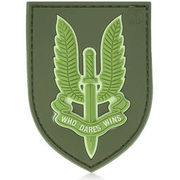 3D Rubber Patch Who Dares Wins SAS forest