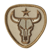 Mil-Spec Monkey Patch Bull Skull desert