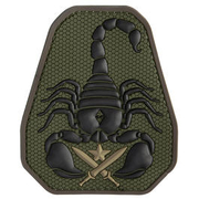 Mil-Spec Monkey 3D Rubber Patch Scorpion Unit forest