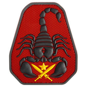 Mil-Spec Monkey 3D Rubber Patch Scorpion Unit fullcolor