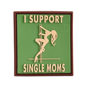 3D Rubber Patch I Support Single Moms multicam